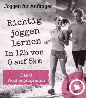 Richtig joggen lernen | Das 8 Wochenprogramm